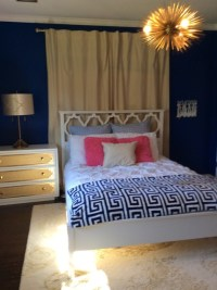 Teen Girl Bedroom indigo and gold