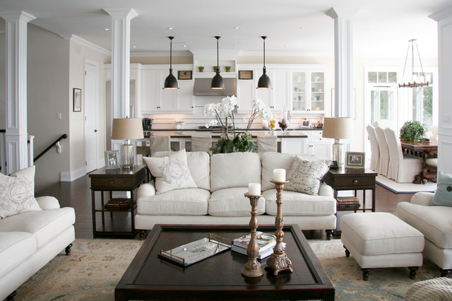 Lakeview Residence - houzz living room furniture