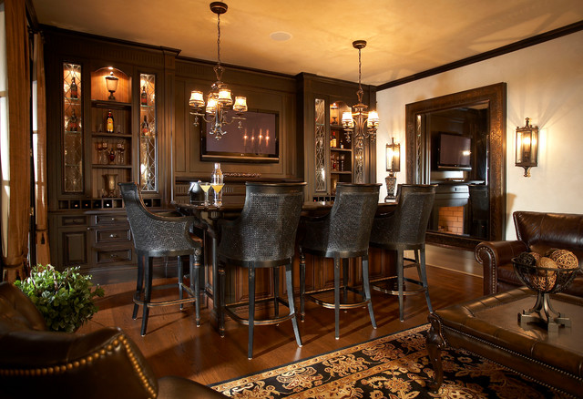 Lake Side Luxury Traditional Home Bar Toronto By Parkyn Design - Home Bar Furniture Toronto