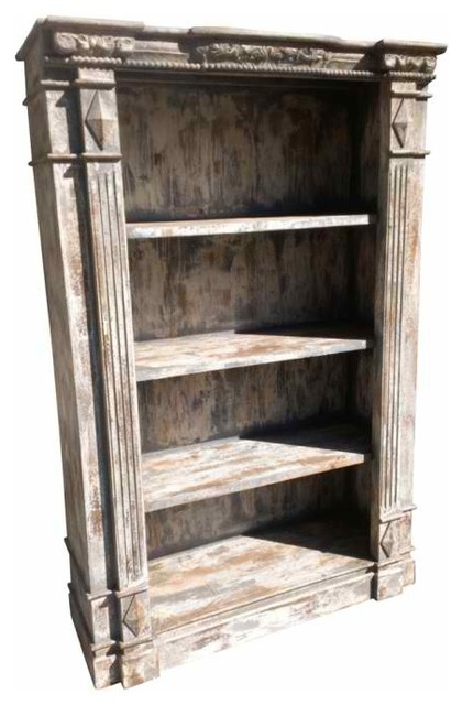 Carved Wood Bookcase Contemporary Bookcases New York