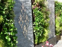 Courtyard Garden - stainless steel wall art