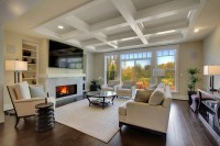 Coffered ceiling off center