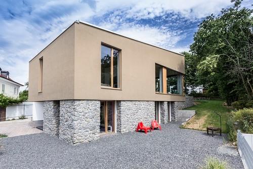 Fassadenfarbe Modern harzite - fassadenfarbe haus
