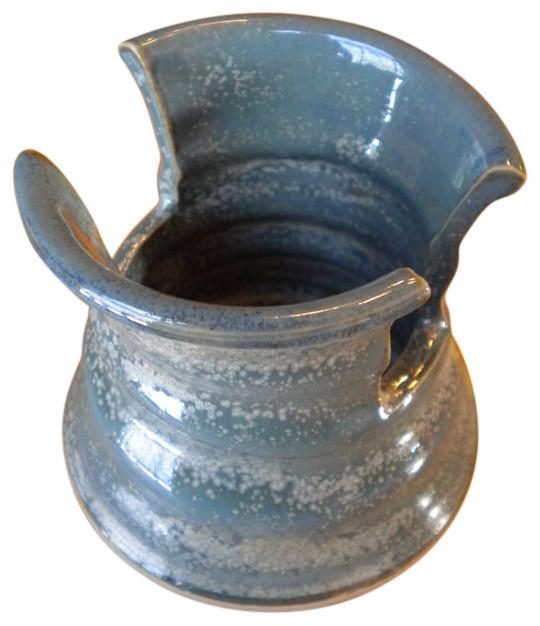 Shop Houzz Lawrence Kearns Pottery Cooper Blue Sponge
