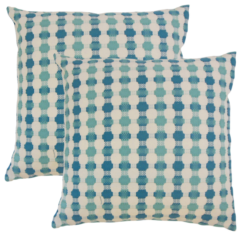 Erela Geometric Throw Pillows Set Of 2 Decorative Pillows By The Pillow Collection Houzz
