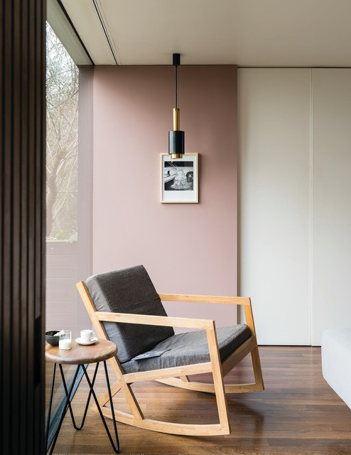Modernes Wohnzimmer In Sulking Room Pink Modern - Farrow And Ball Frankfurt