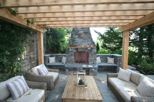 Fireplace Patio Pergola