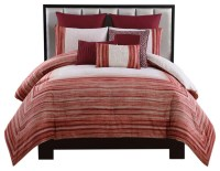 Legacy 8-Piece Comforter Set, Red, Queen - Transitional ...