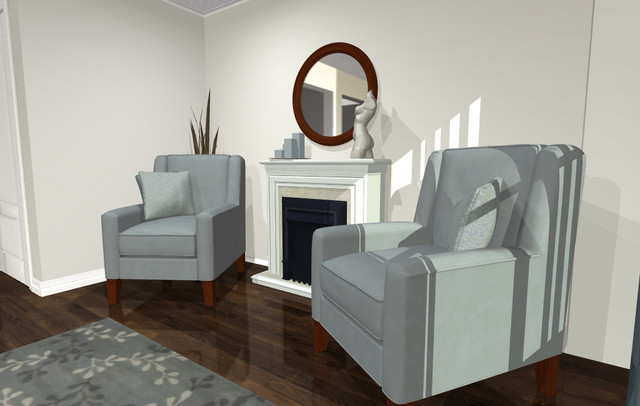 Virtual Decorating Living Room - Contemporary - Living Room - redecorating living room