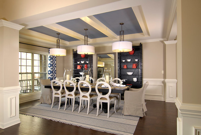 Charlotte Interior Designers Model Home - Transitional - Dining Room - Charlotte - By