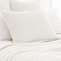 PCH Seychelles Dove White Quilted Pillow Sham - Modern ...