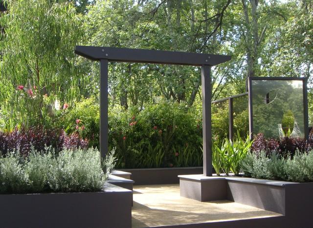 show garden featuring australian native plants modern melbourne