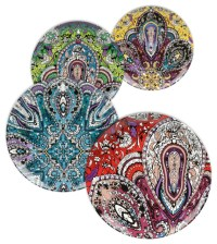 Waechtersbach Set of 4 Accents Plates - Decorative Plates ...