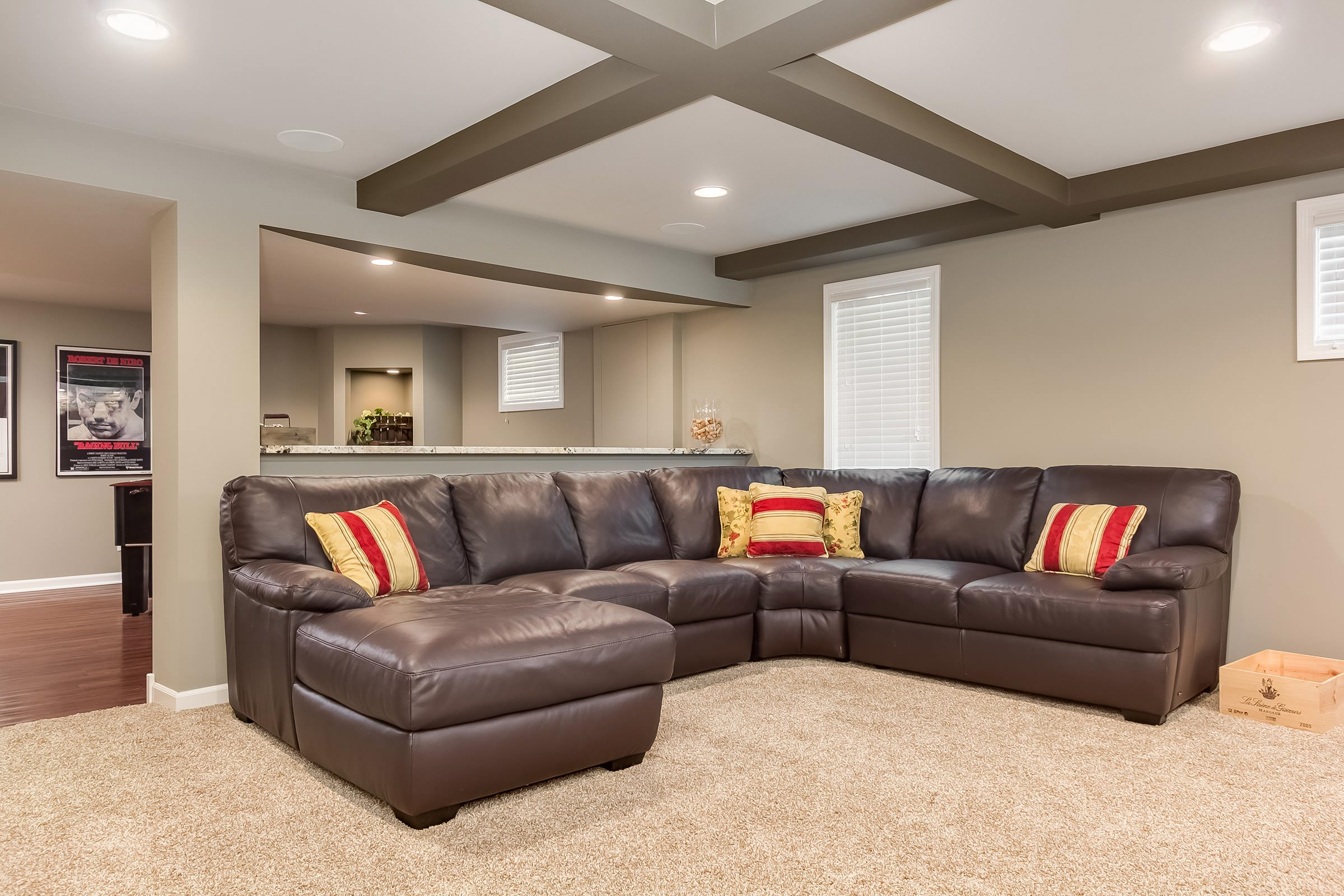 Basement Sectional Sofa Transitional Basement Chicago By Fbc Remodel Houzz