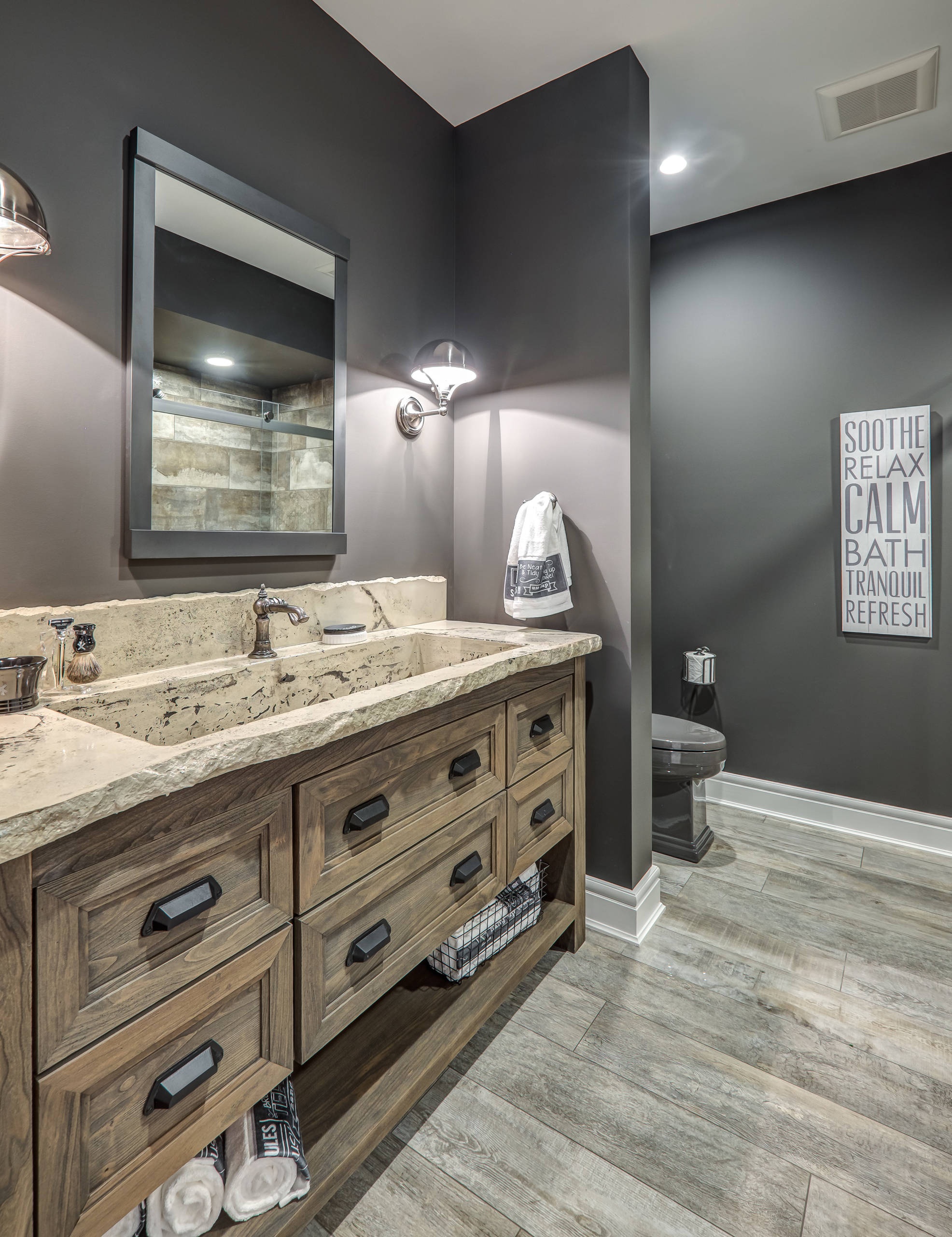75 Beautiful Slate Tile Bathroom Pictures Ideas May 2021 Houzz