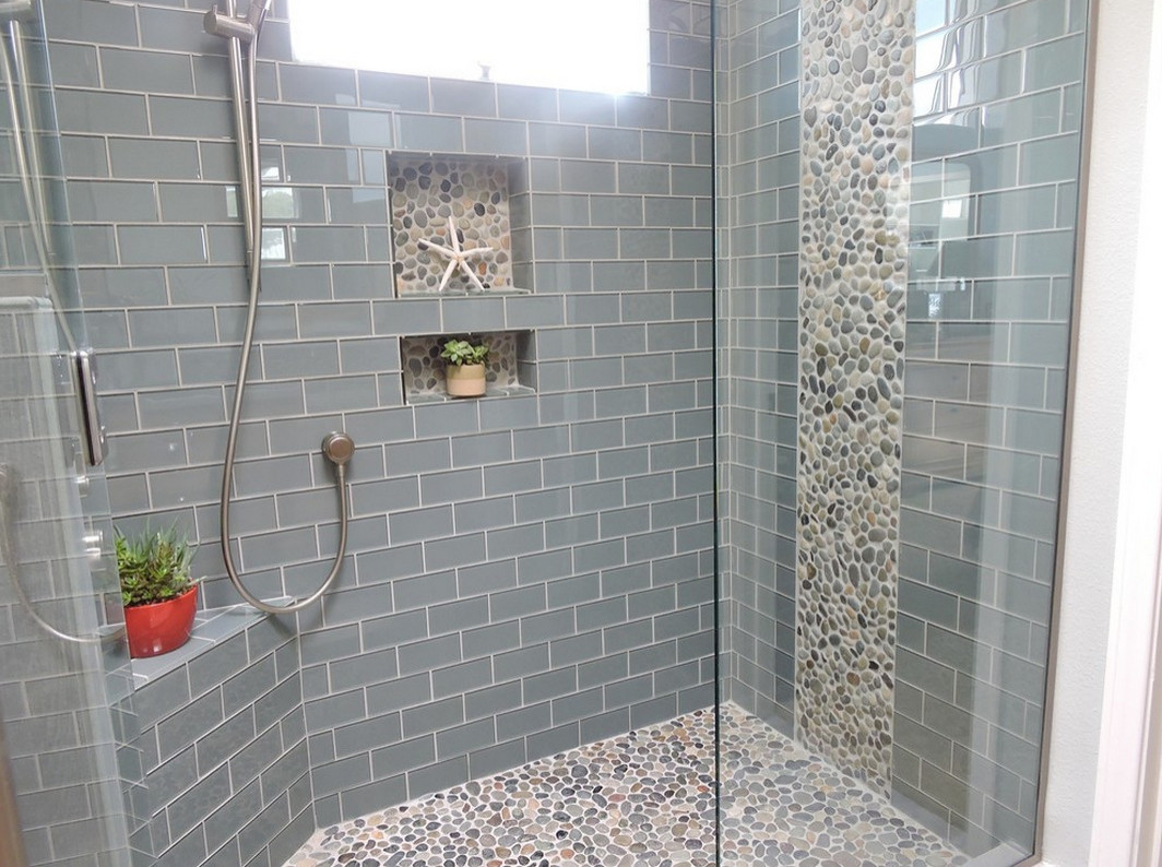 75 Beautiful Gray Bathroom Subway Tile Pictures Ideas Houzz