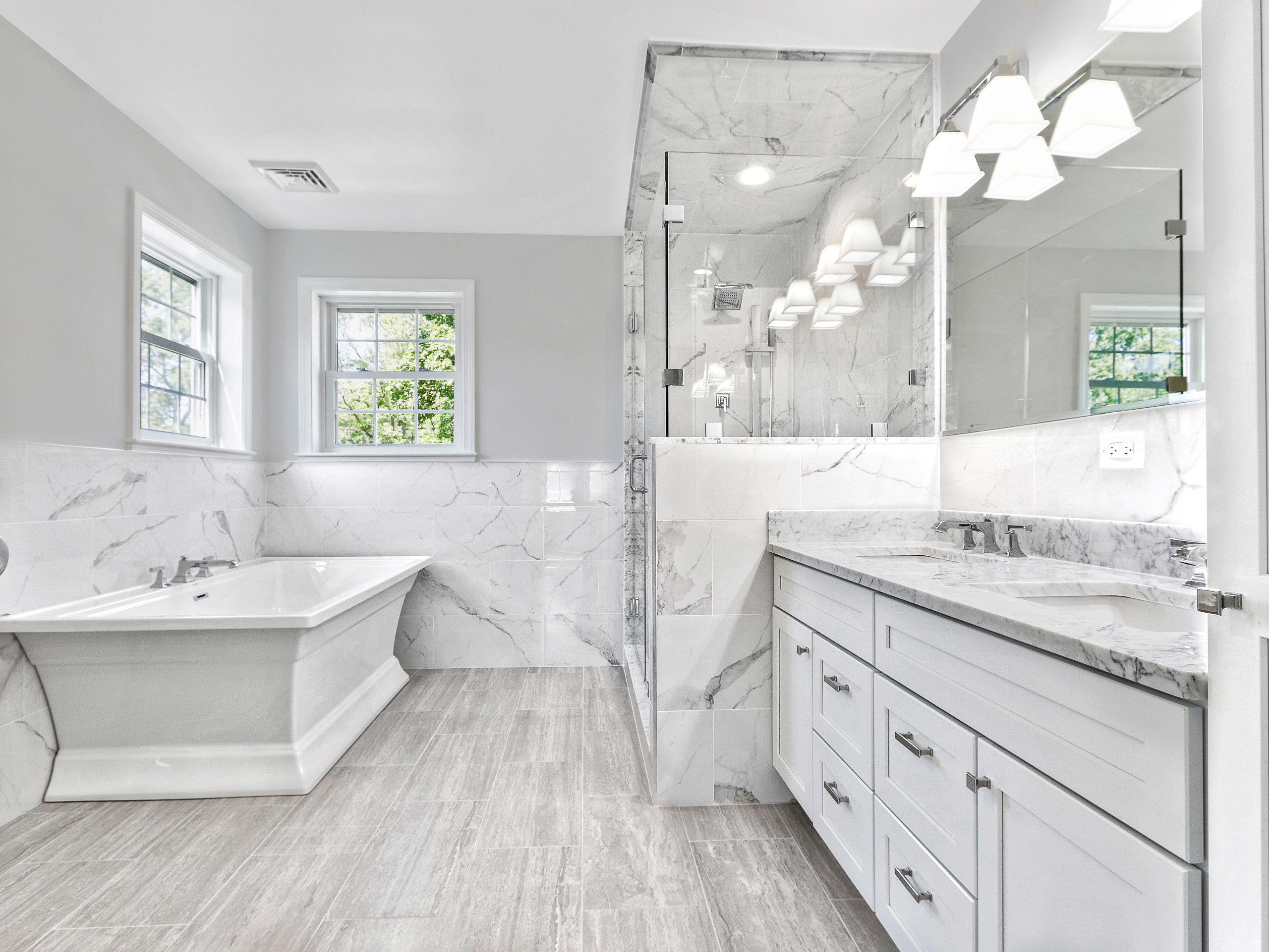 75 Beautiful Gray Tile Bathroom Pictures Ideas November 2020 Houzz
