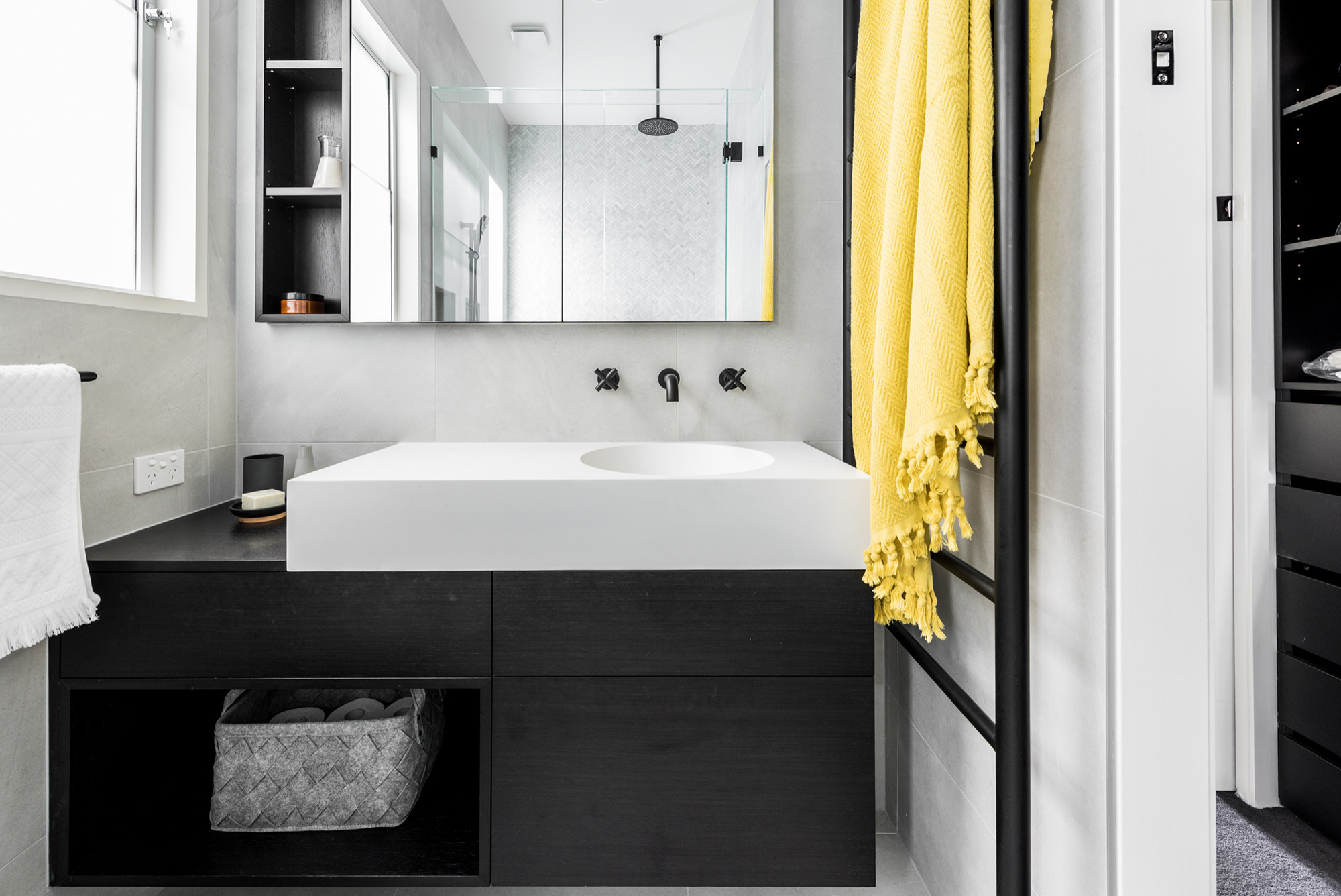 75 Beautiful Black Bathroom With An Integrated Sink Pictures Ideas January 2021 Houzz