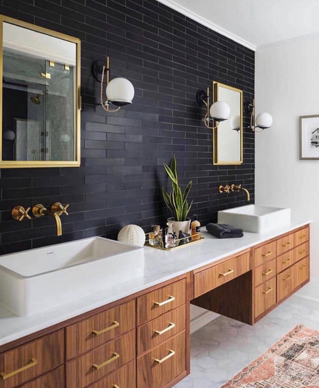 75 Beautiful Black Tile Bathroom Pictures Ideas November 2020 Houzz