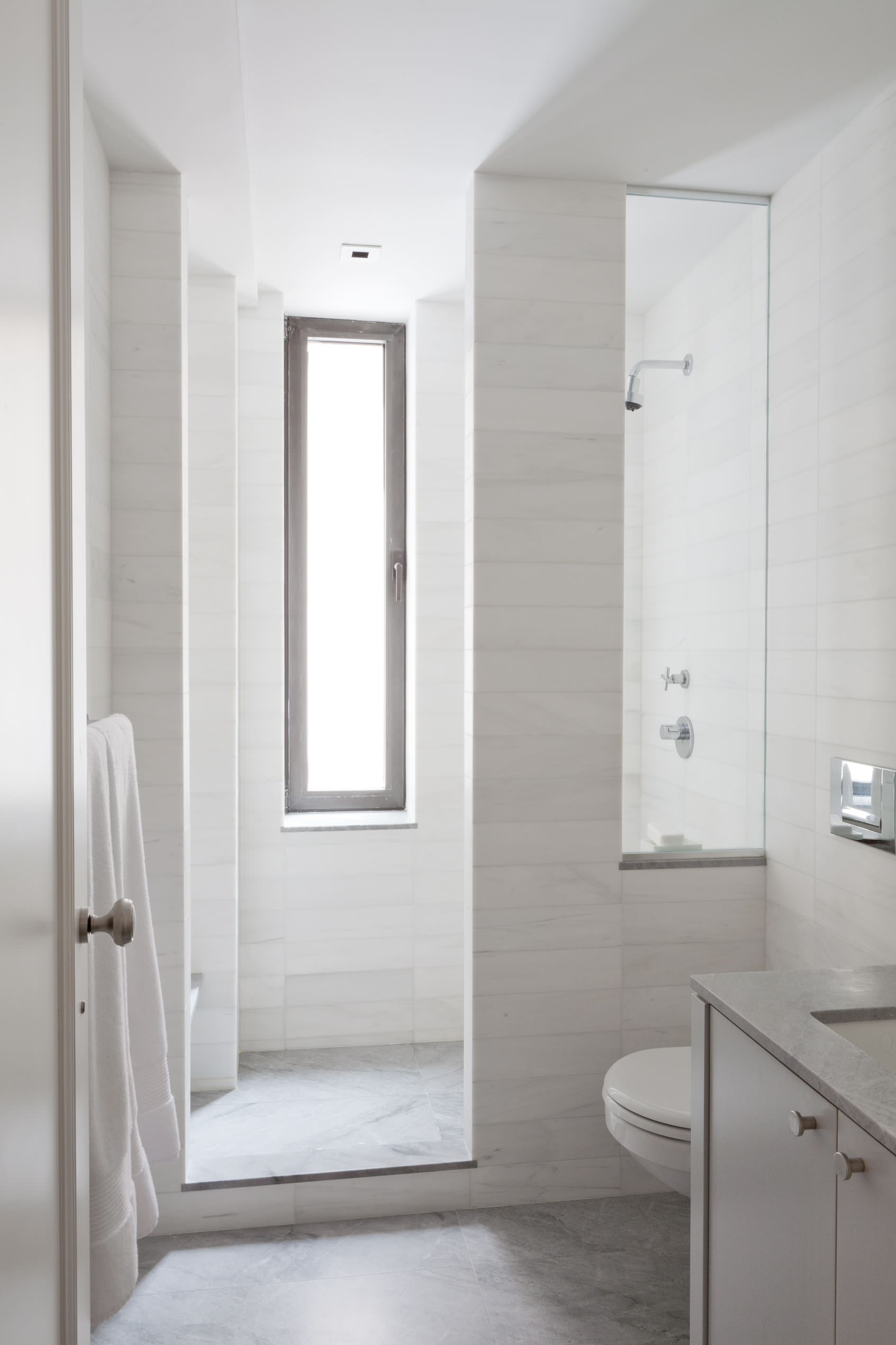 Uptown West Contemporary Bathroom New York By Wettling Architects Houzz