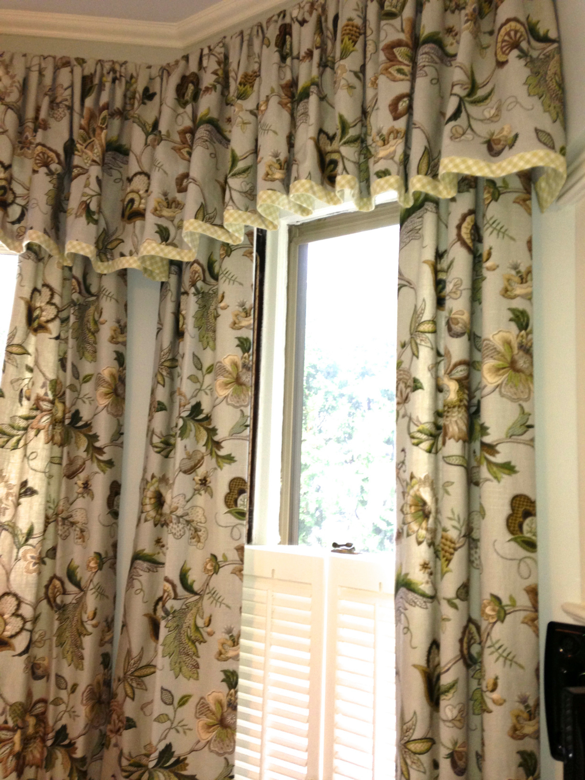 Gathered Valance Houzz