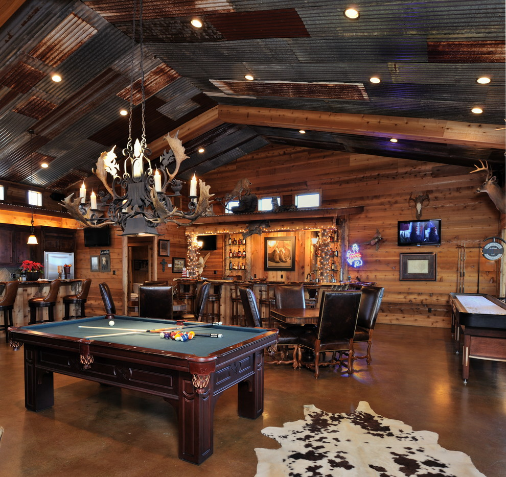 Home On The Ranch Rustic Family Room Houston By Vining Design Associates Houzz