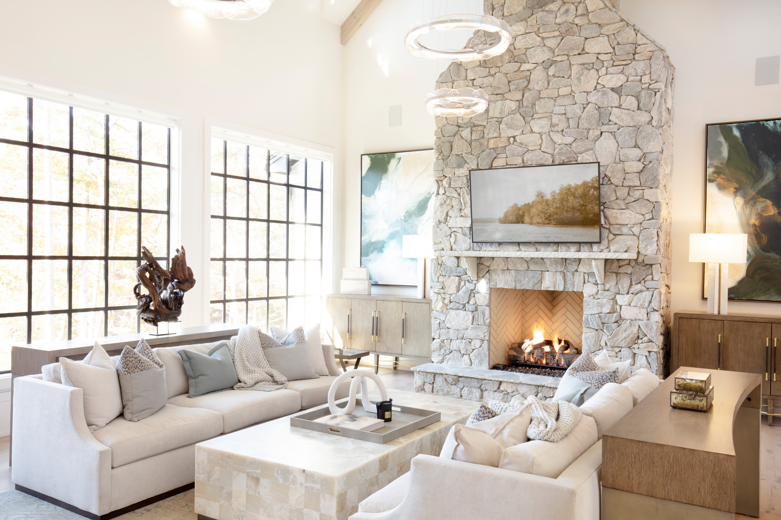 75 Beautiful Family Room With A Stone Fireplace Pictures Ideas May 2021 Houzz