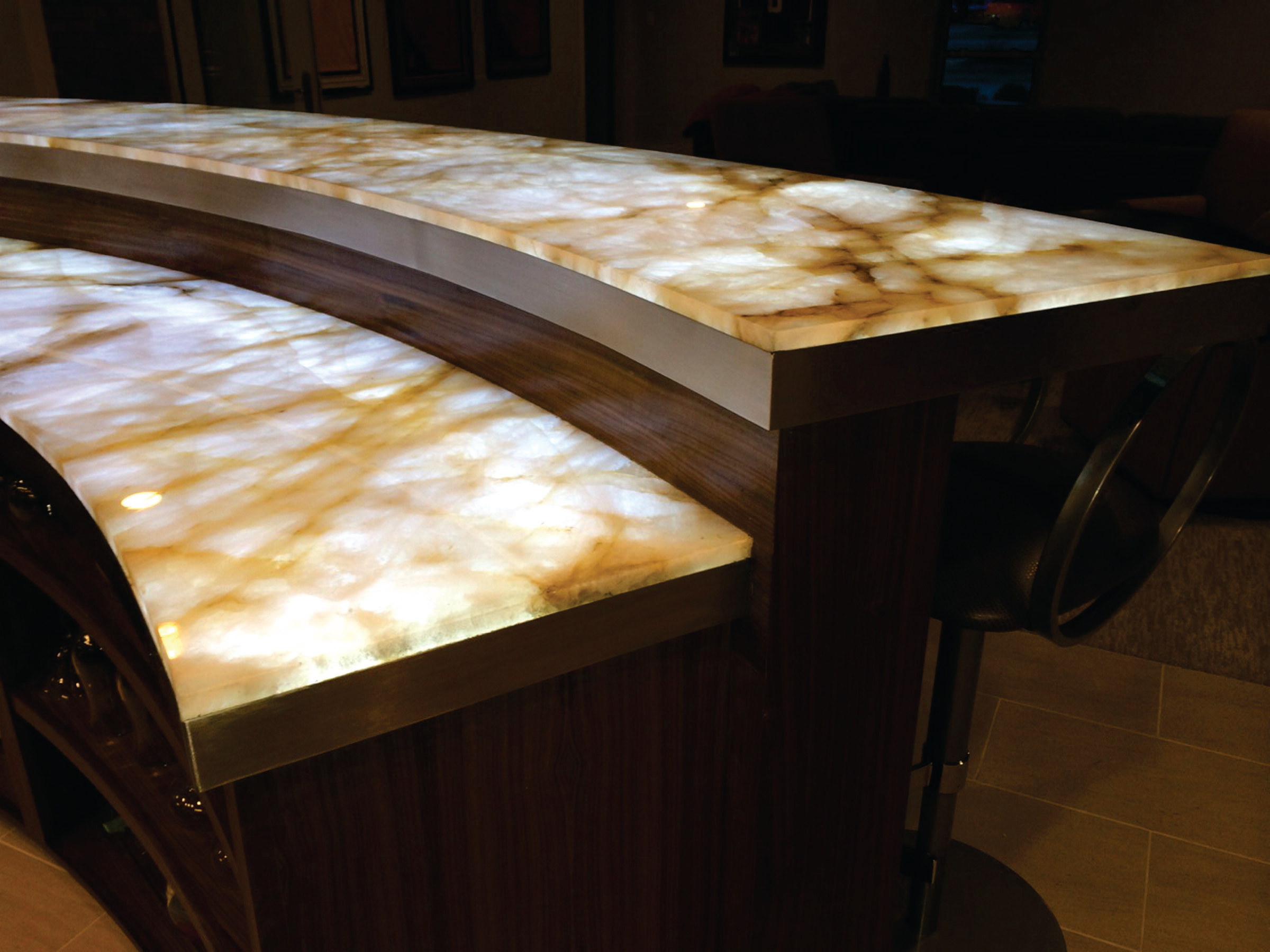 Illuminated Countertops Houzz