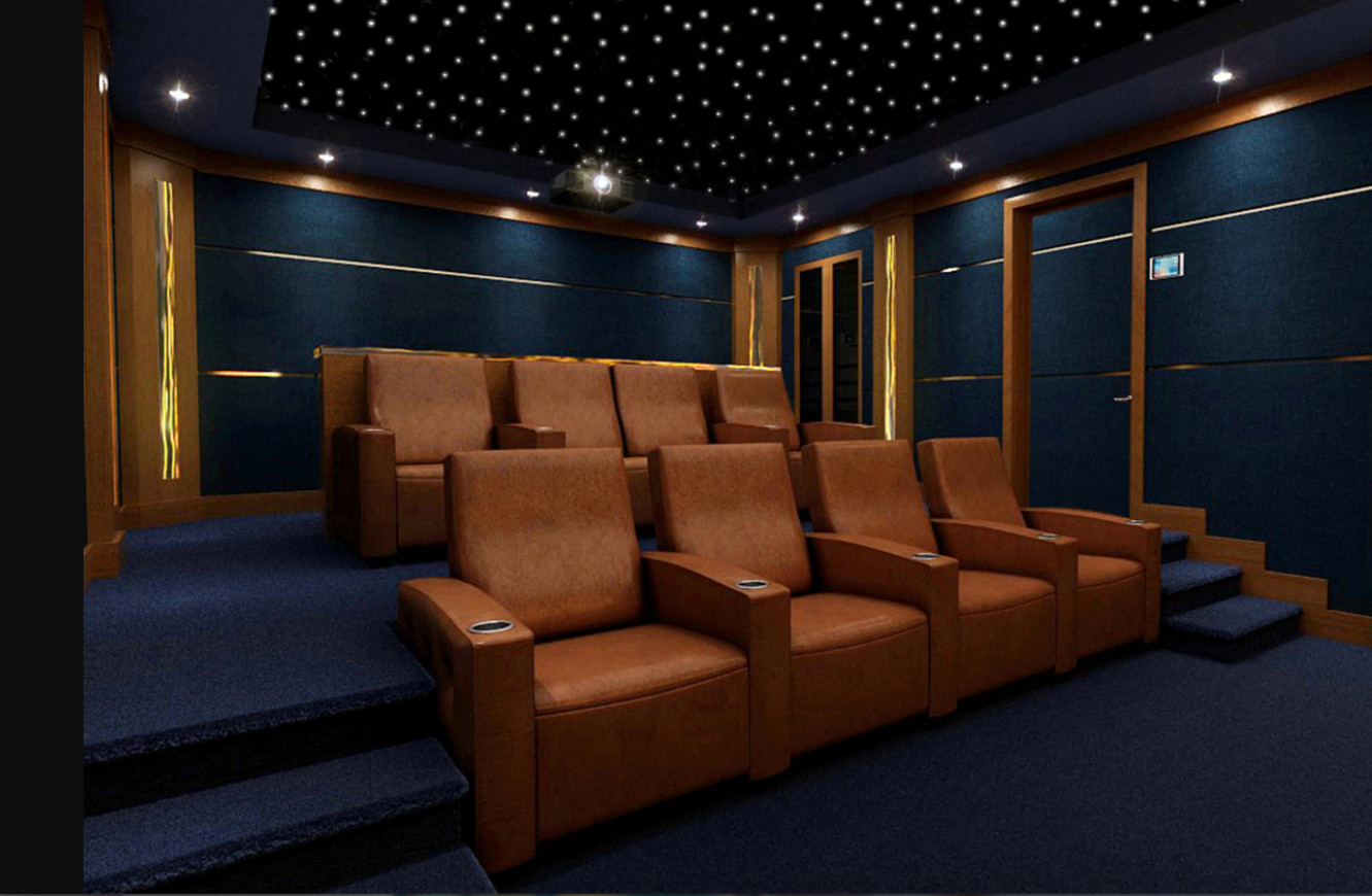 75 Beautiful Black Home Theater With Blue Walls Pictures Ideas April 2021 Houzz