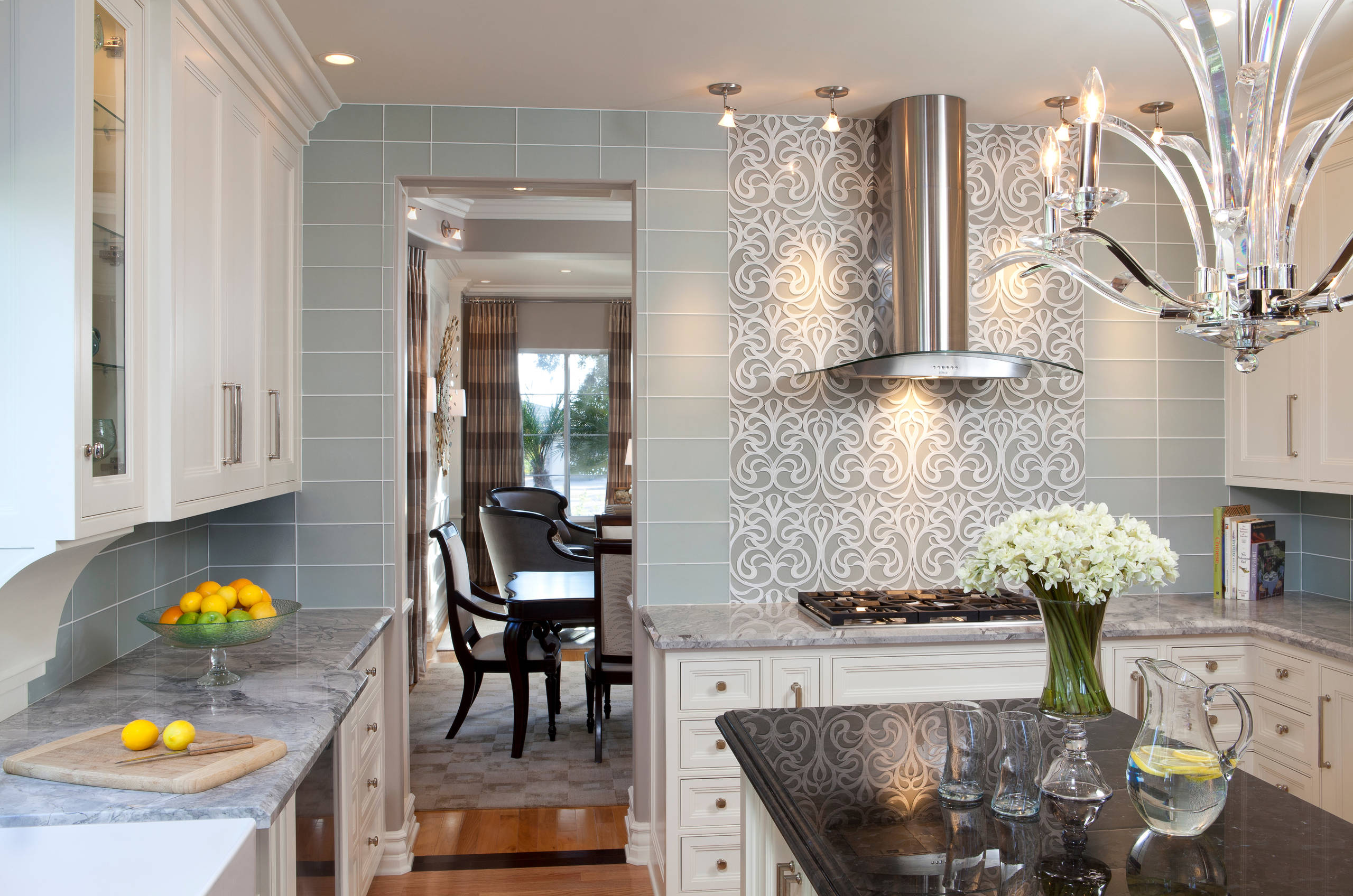 Glamorous Kitchen Traditional Kitchen San Diego By Robeson Design Houzz