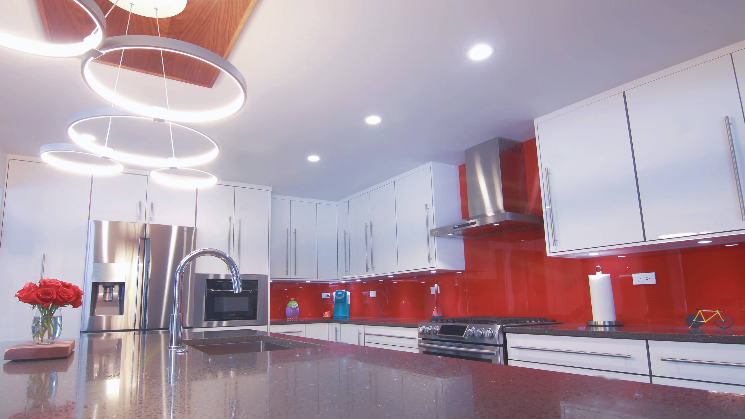 75 Beautiful Purple Kitchen With Red Backsplash Pictures Ideas January 2021 Houzz
