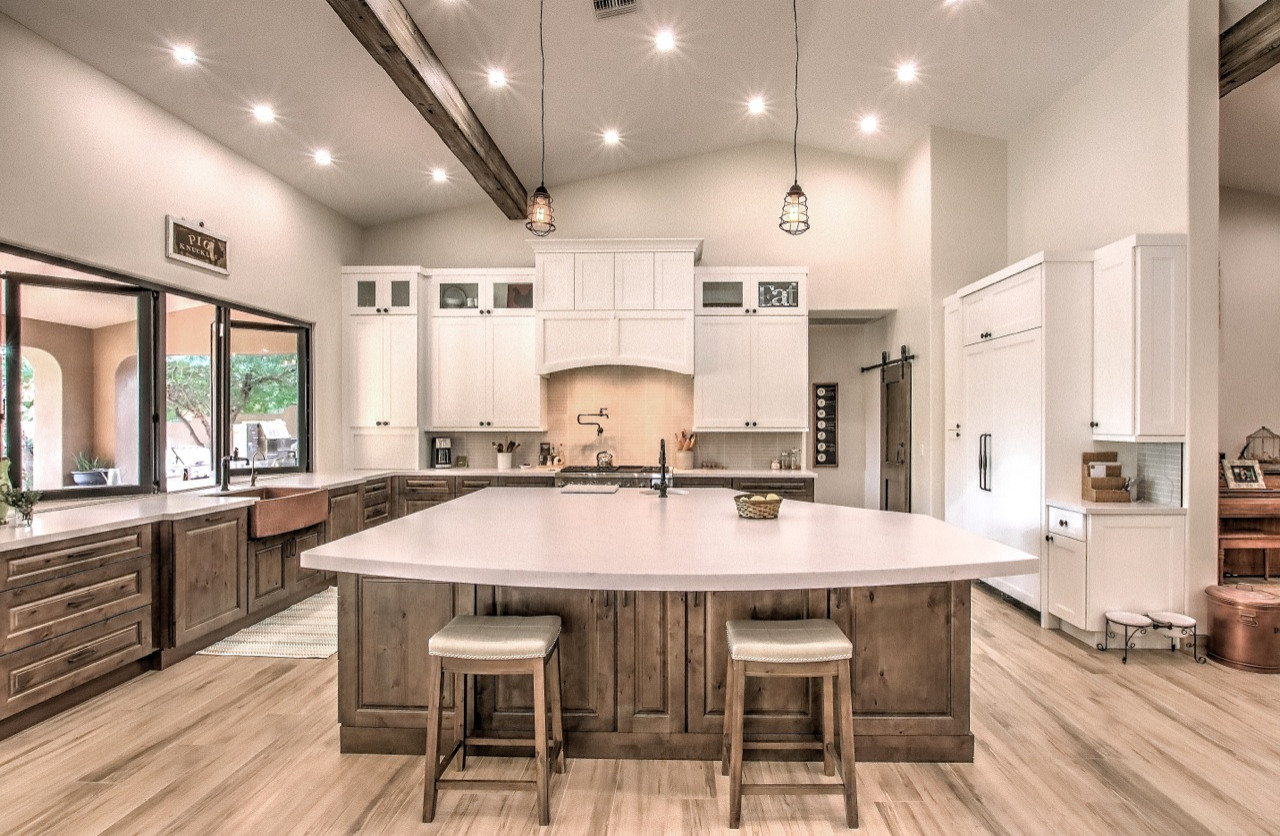 Marvelous In Mesa Farmhouse Kitchen Phoenix By Reve Design Custom Construction Houzz