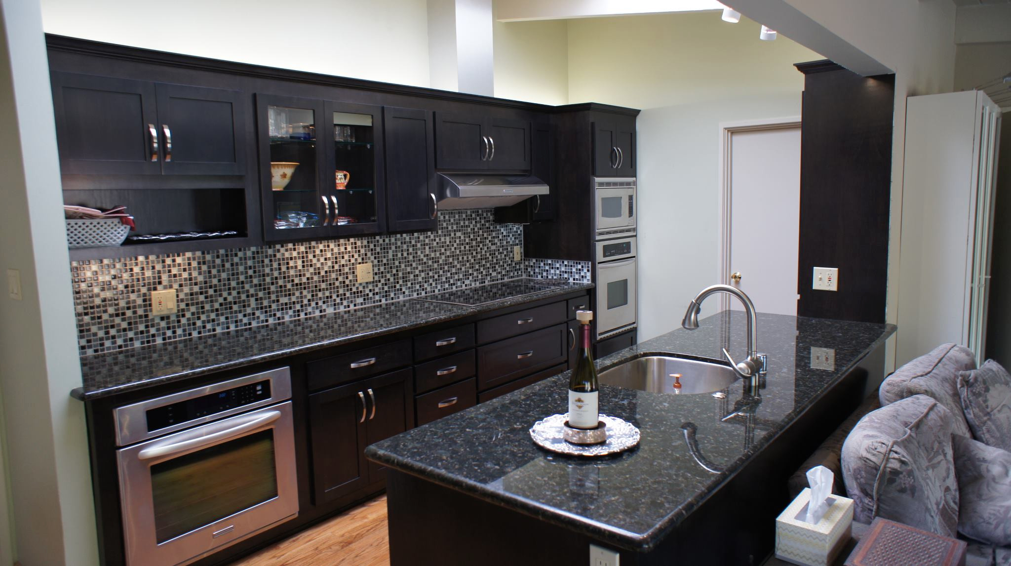 Cherry Kitchen Cabinets With Glass Doors Houzz