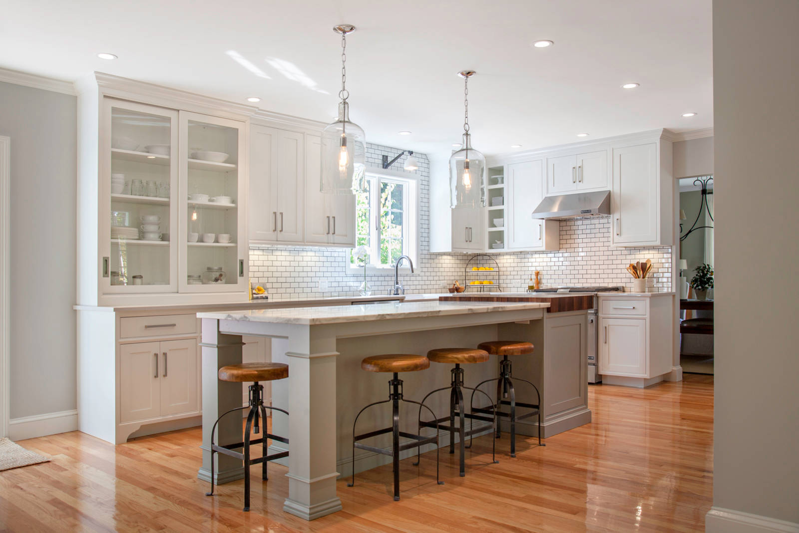 Swanson Farmhouse Kitchen Boston By Pennville Custom Cabinetry Houzz