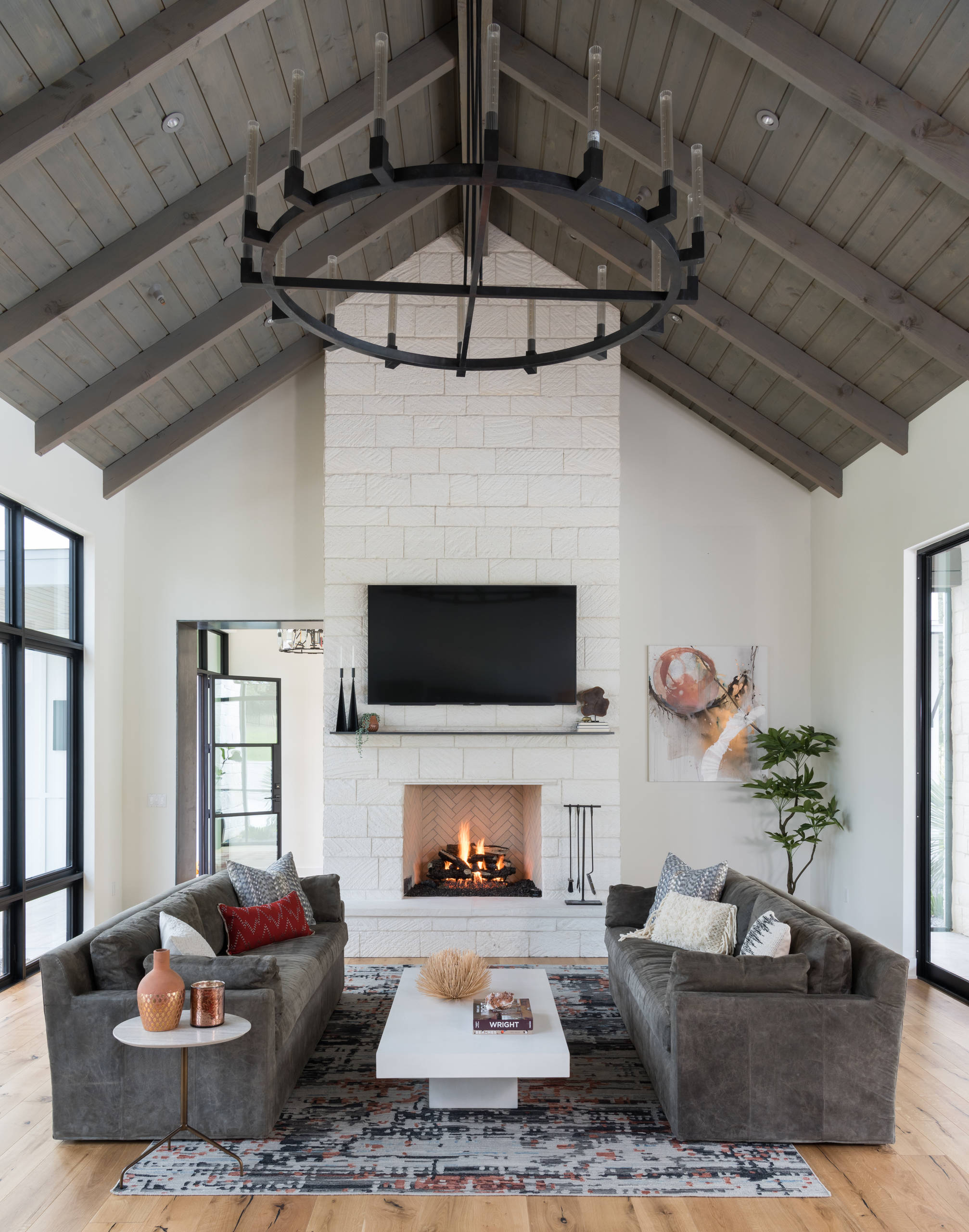 75 Beautiful Farmhouse Living Room Pictures Ideas January 2021 Houzz