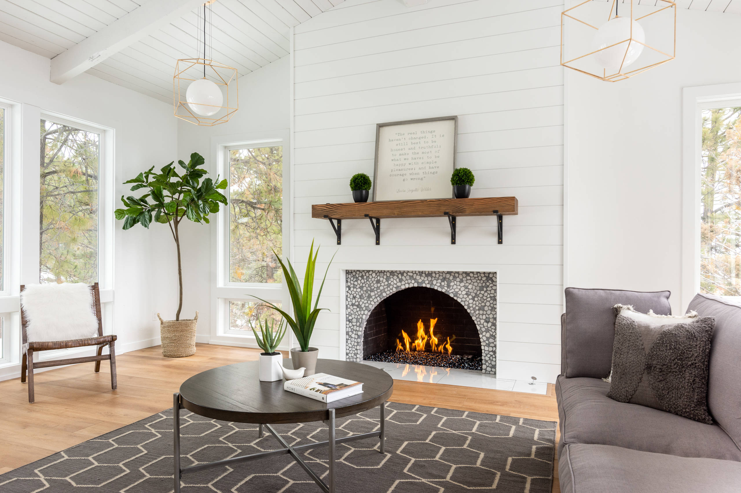 Shiplap Fireplace Ideas Photos Houzz