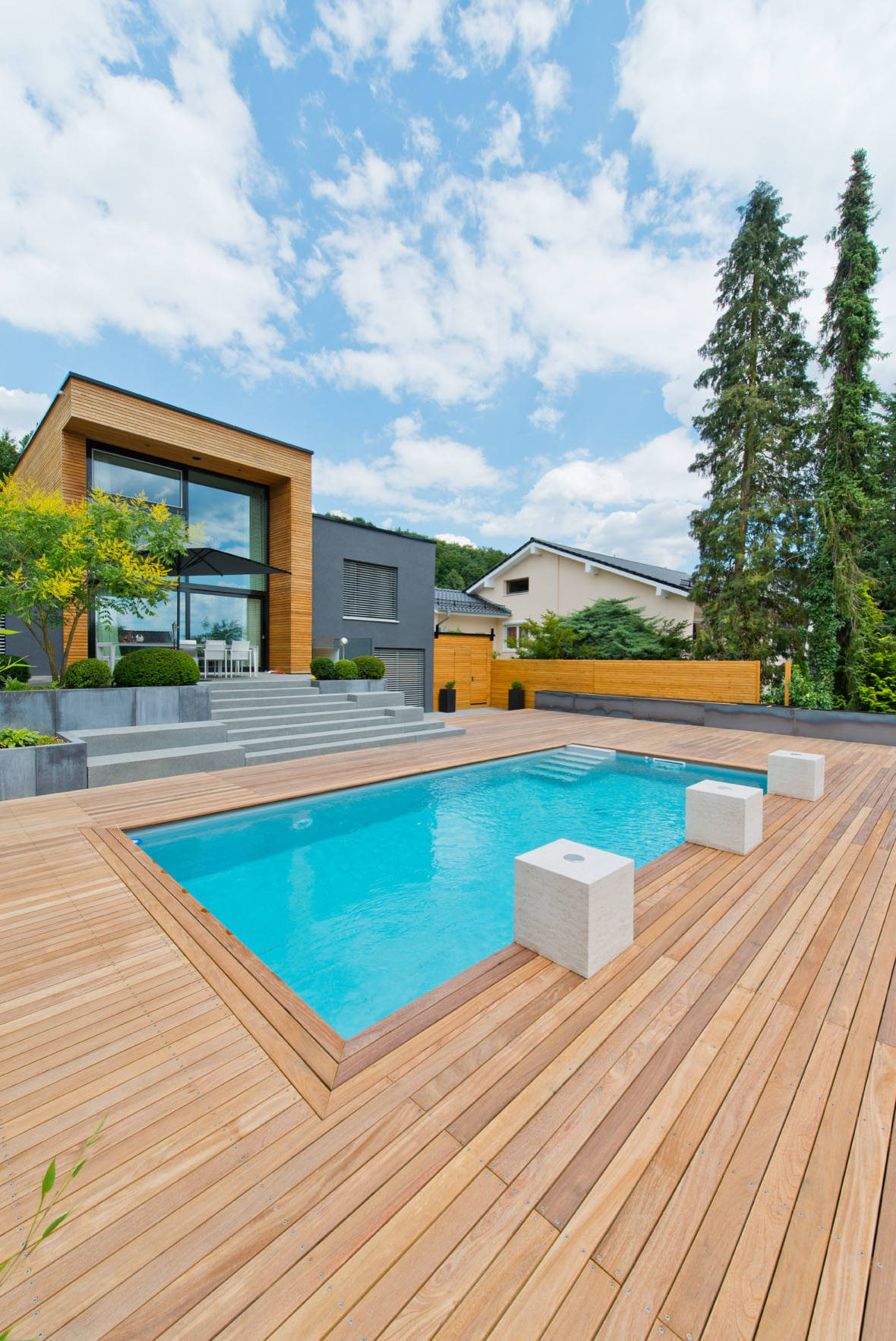 Betonpool 75 Beautiful Mid-sized Brown Pool Pictures & Ideas - February, 2021 | Houzz