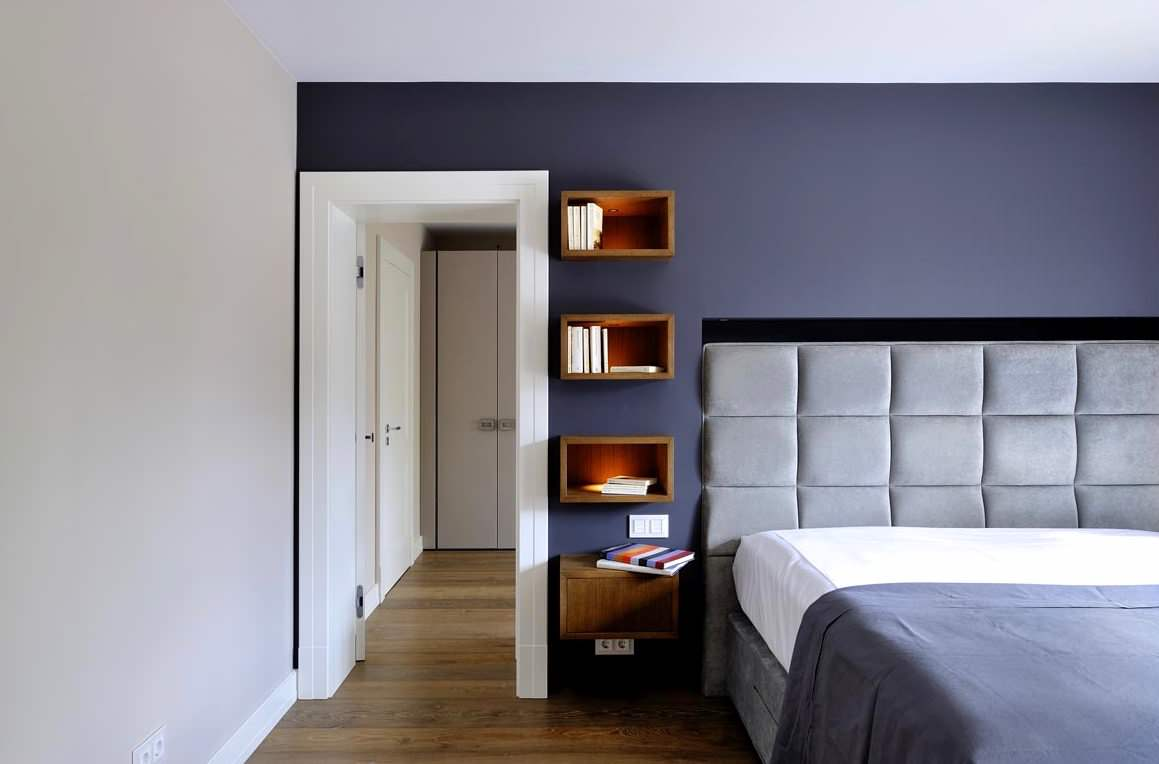 75 Beautiful Dark Wood Floor Bedroom With A Concrete Fireplace Pictures Ideas February 2021 Houzz