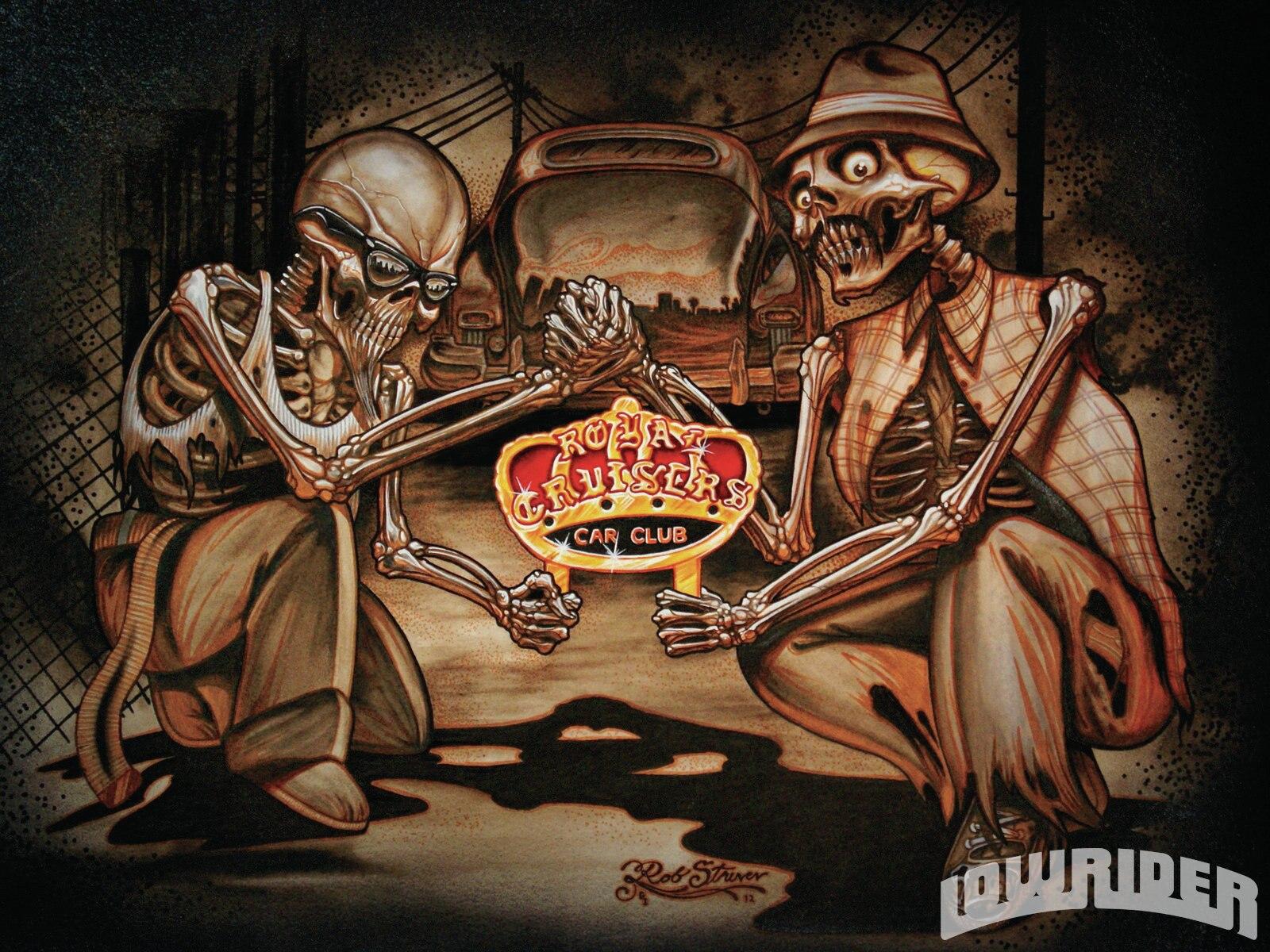 Gangsta Girls And Lowriders Wallpaper Rob Struven Art Lowrider Magazine