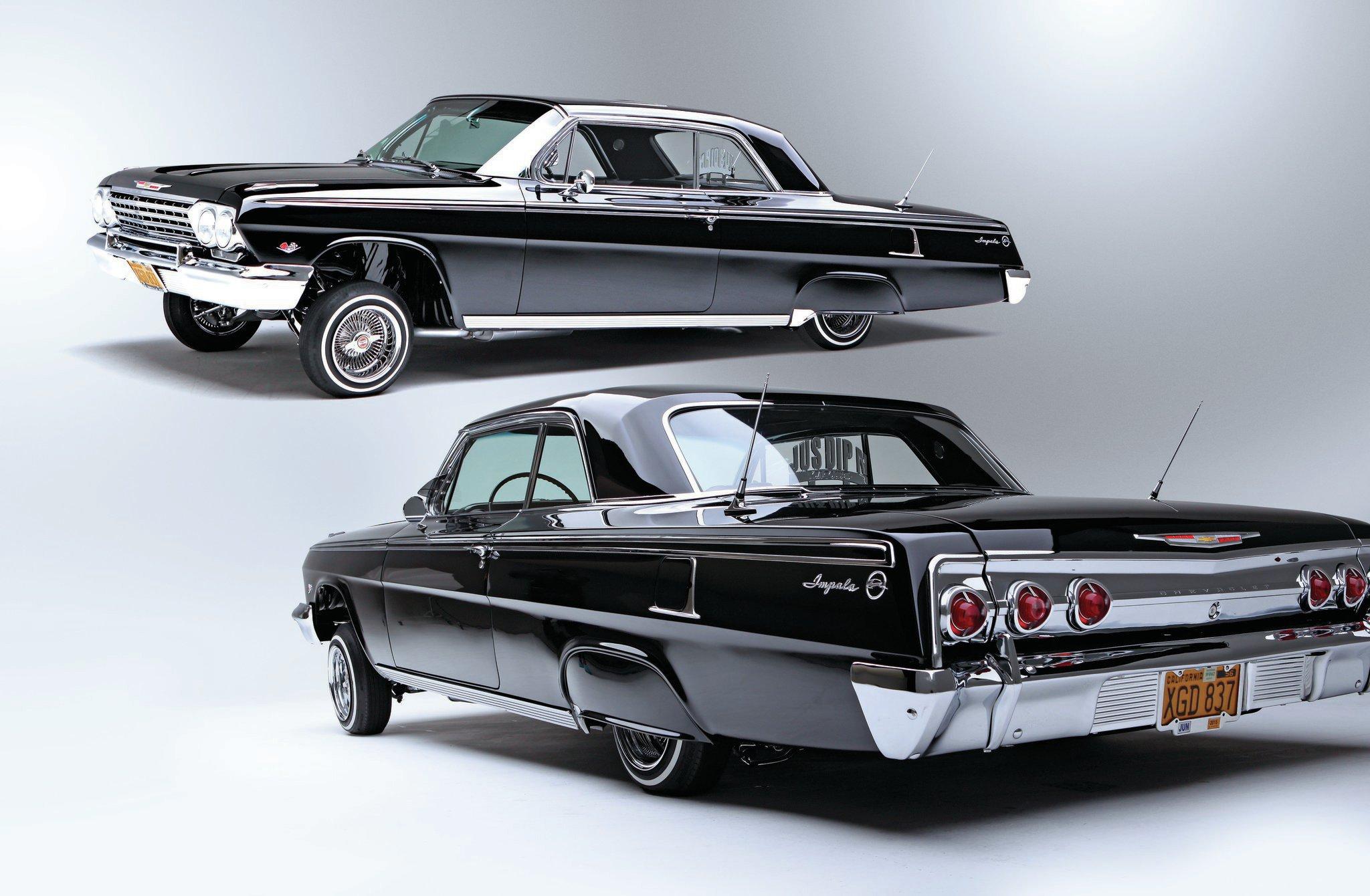 Gangsta Girls And Lowriders Wallpaper 1962 Chevrolet Impala Black Diamond