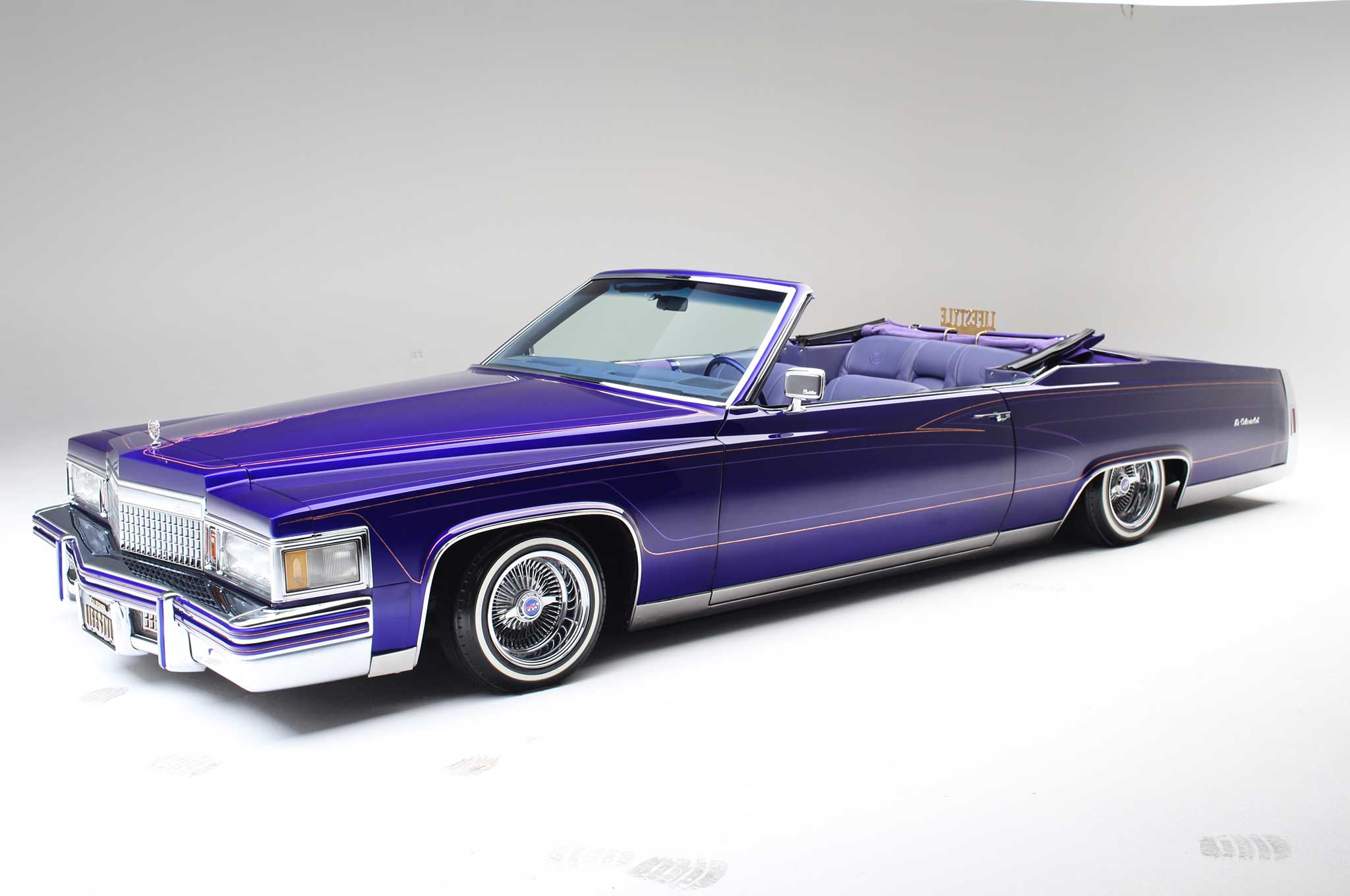 Classic Cars Hd Wallpapers 1920x1080 1979 Cadillac Le Cabriolet Purple Rein Lowrider