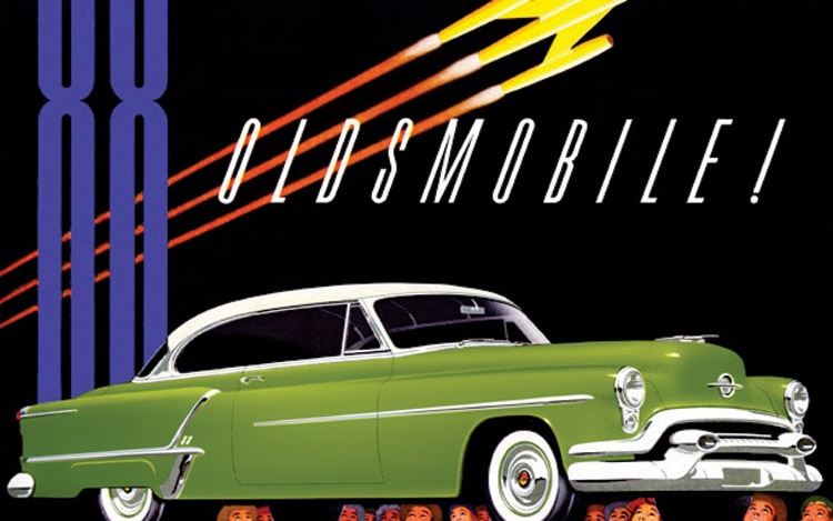The Cars Band Cover Wallpaper 1950 Oldsmobile Futuramic 88 Road Test Motor Trend Classic