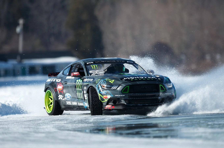 Ken Block Hd Wallpaper Watch Vaughn Gittin Jr Drift His 2015 Ford Mustang Rtr On Ice