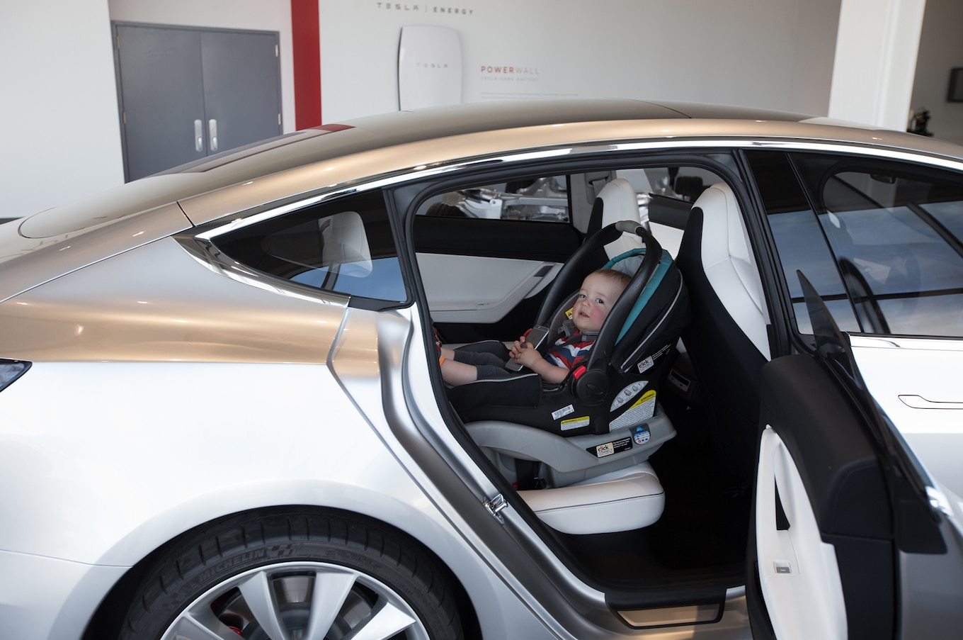 Garage Seat Lens Tesla Model 3 Will It Be A Good Family Car Motortrend