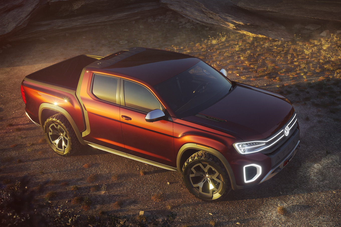Pick Up The Volkswagen Tanoak Is An Atlas Based Pickup Truck