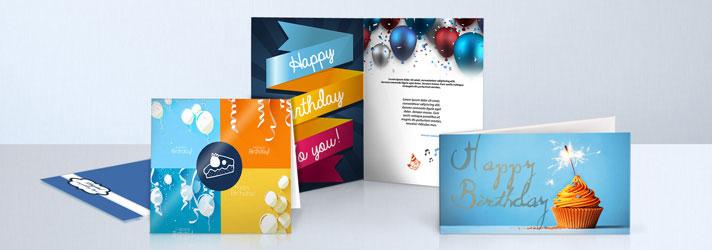 Geburtstagskarten drucken lassen und gestalten Online bei print24