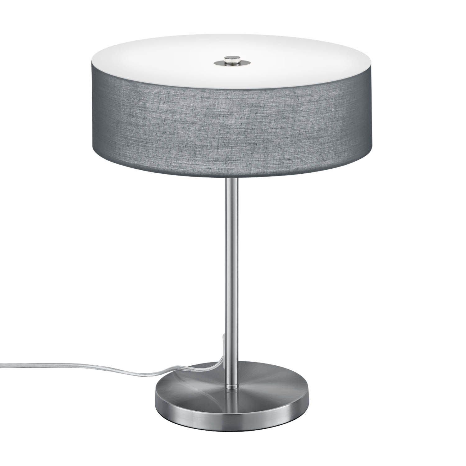 Lampara Mesa Led Lámpara De Mesa Led Carlo 12w Gris Lámparas E