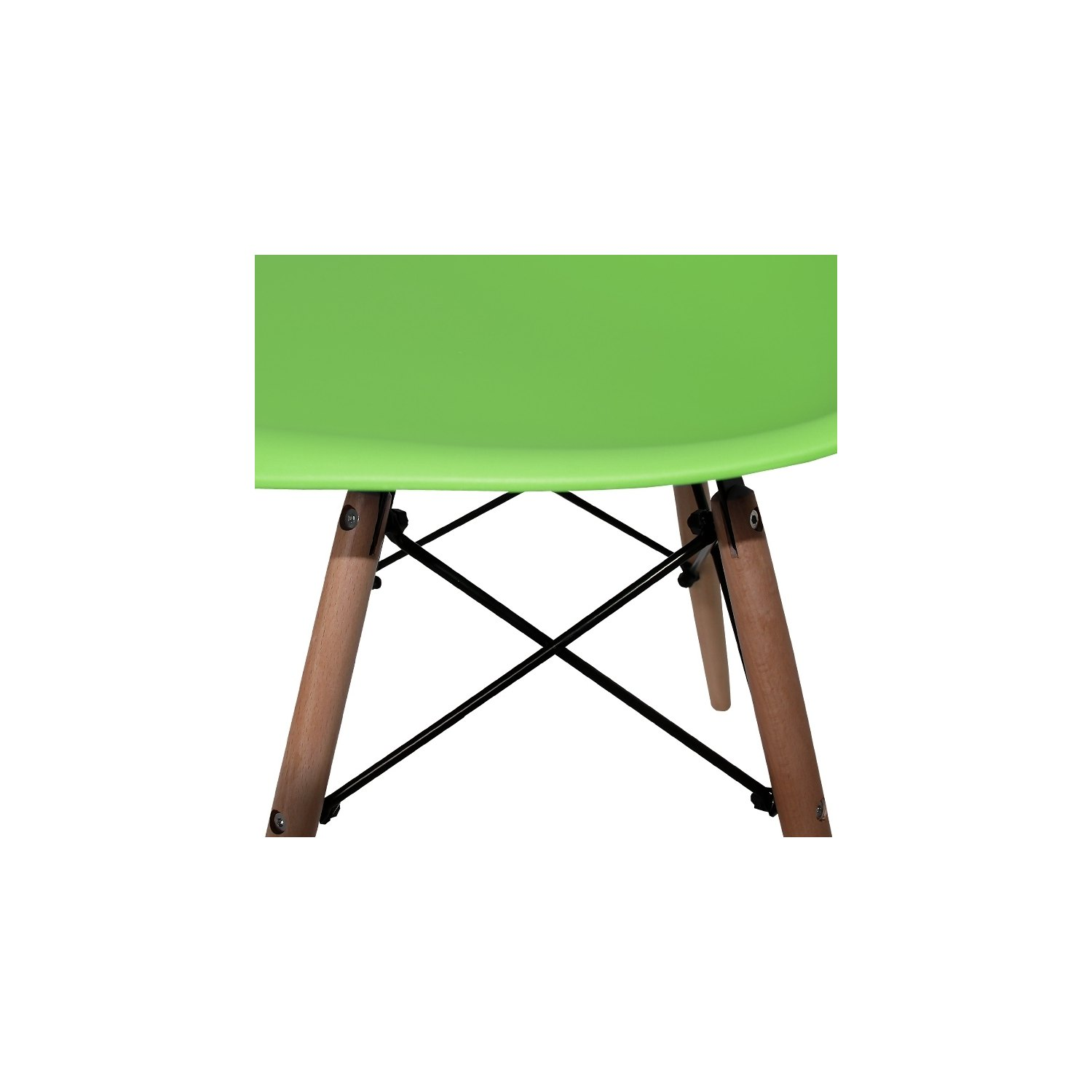 Chaises Vertes Pack 4 Chaises Tower Wood Vertes Extra Quality