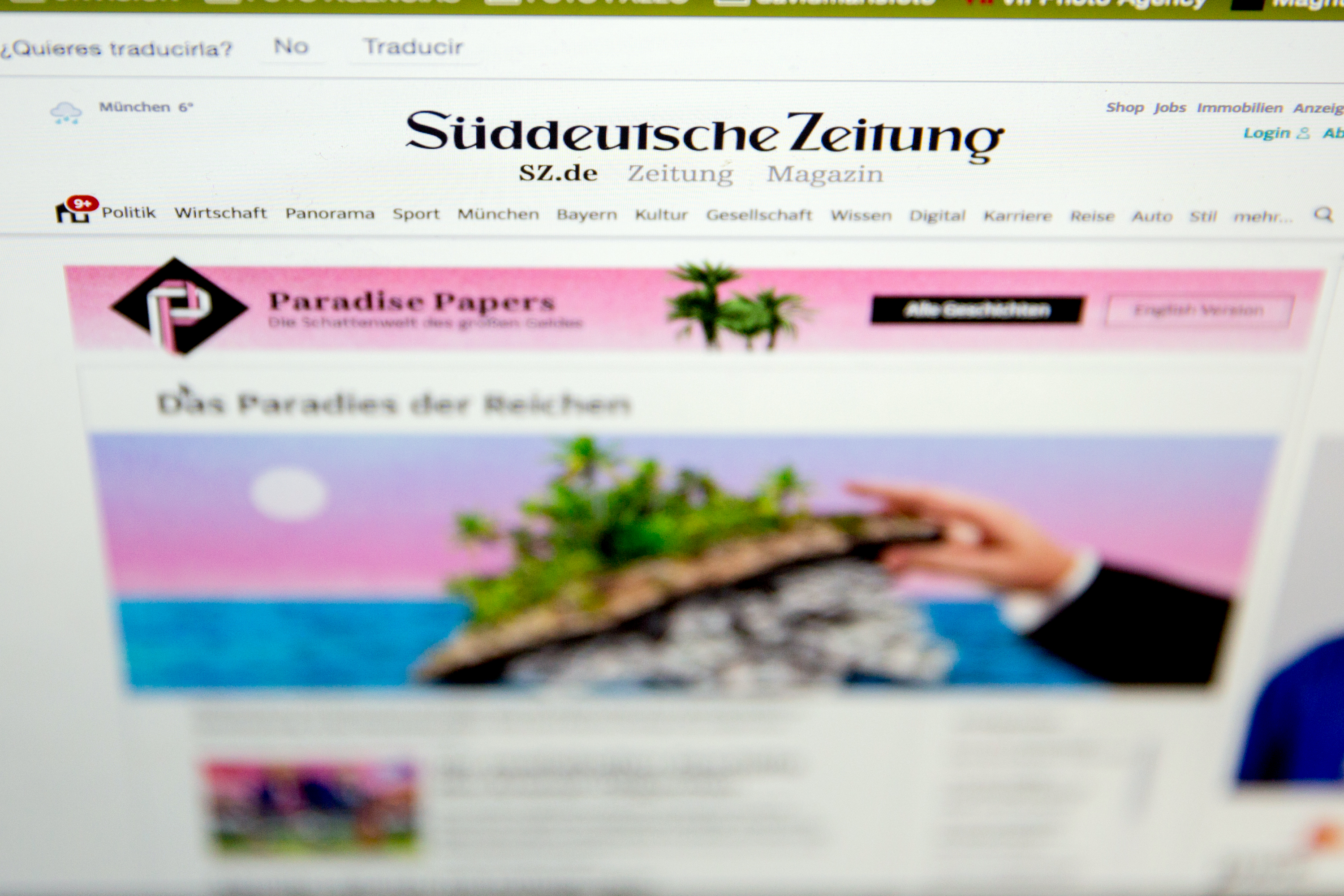 Süddeutsche Zeitung Shop In Photos 20 Facts About The Paradise Papers Leak
