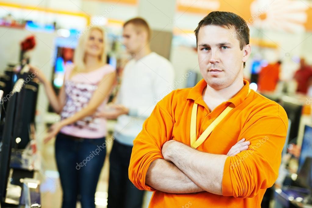 Seller shop assistant \u2014 Stock Photo © kalinovsky #87358082
